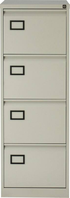 realspace pro four drawer filing cabinet grey