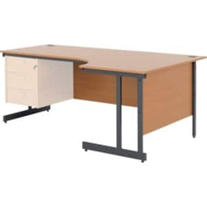 Desk classic beech 725 x 1 800 x 800 mm viking direct ie - Viking office desk ...