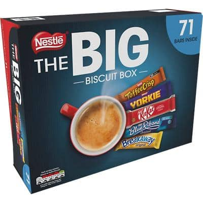 Nestlé Chocolate Bar Big Biscuit Sharing Box 71 Pieces of 1.73 kg