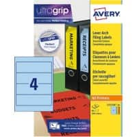 Avery L7171A-20 Filing Labels Self Adhesive 200 x 60 mm Assorted 80 Labels