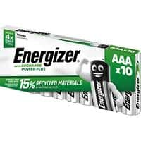 Energizer AAA Rechargeable Batteries Power Plus HR03 700mAh NiMH 1.2V Pack of 10