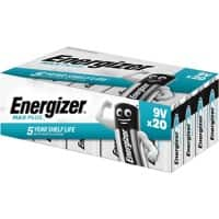 Energizer Battery Max Plus 9V 20 Pieces