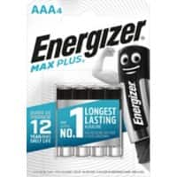 Energizer Battery Max Plus AAA 4 Pieces