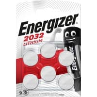 Energizer Batteries CR2032 6 Pieces