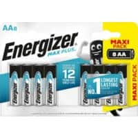 Energizer Battery Max Plus AA 8 Pieces