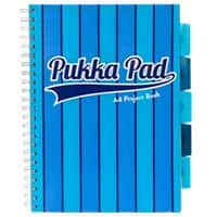 Pukka Pad Project Book Vogue A4 Ruled Blue Pack of 3