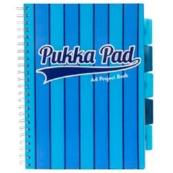 Pukka Pad Project Book Vogue A4 Ruled 8 mm Lines Blue 3 pieces