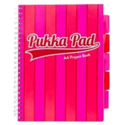 Pukka Pad Project Book Vogue A4 Ruled 8 mm Lines Pink 3 pieces