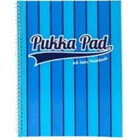 Pukka Pad Jotta Pad Vogue A4 Ruled 8 mm Lines Blue 3 pieces