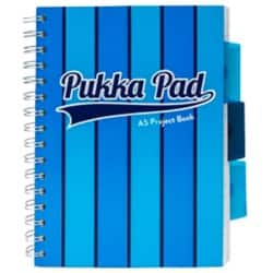 Pukka Pad Project Book Vogue A5 Ruled 8 mm Lines Blue 3 pieces