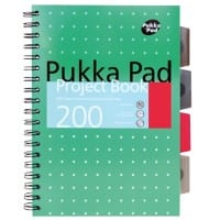 Pukka Pad Project Book Metallic B5 Ruled 8 mm Lines Green 100 Sheets Pack of 3