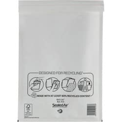 Sealed Air Mailing Bags f/3 79gsm White plain peel and seal 50 pieces
