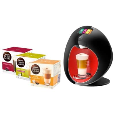 Nescafé Dolce Gusto Majesto Coffee Machine + 15 boxes Dolce Gusto pods for free