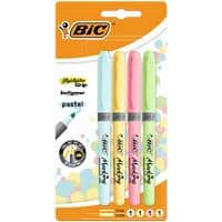 BIC Highlighter 1.6 mm Assorted Pastel Colours Pack of 4