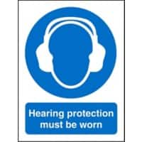 Mandatory Sign Hearing Protection Plastic 20 x 15 cm
