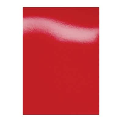 GBC HiGloss Binding Covers A4 Cardboard 250 gsm Red Pack of 100