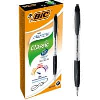 Bic Atlantis Retractable Easy Glide Ballpoint Pen - Black - Pack of 12