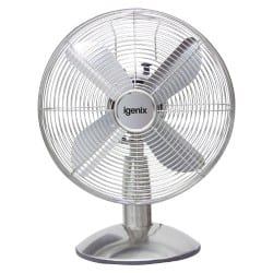 "Igenix 12"" Silver Desk Fan"