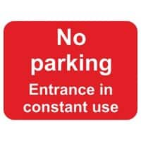 Prohibition Sign No Parking Entrance in Constant Use PVC 40 x 30 cm