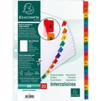 Exacompta Mylar Printed Indices A4 White Card A - Z