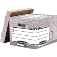 Bankers Box System Archive Boxes Grey 285(H) x 333(W) x 390(D) mm Pack of 10