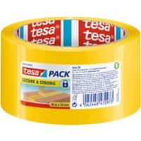 "tesapack Printed ""Opened"" Security Packaging Tape 50mm x 50m Yellow"