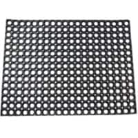 Office Depot Outdoor Doormat Honeycomb Value Black 800 x 600 mm