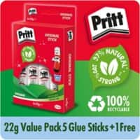 Pritt Glue Stick Transparent 6 Pieces of 22 g
