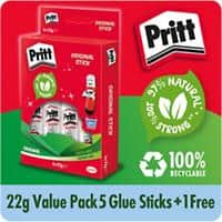 Pritt Glue Stick Transparent 22 g 5+1 Free
