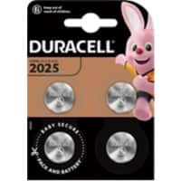 Duracell Button Cell Batteries CR2025 3V Lithium 4 Pieces