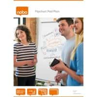 Nobo Plain Flipchart Pads Perforated A1 60gsm 40 Sheets