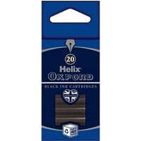 OXFORD Ink Cartridge Refills Black 20 Pieces
