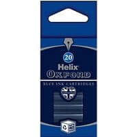 OXFORD Ink Cartridge Refills Blue Pack of 20