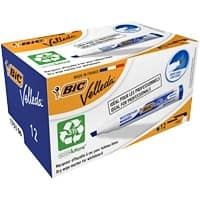 BIC 1751 Whiteboard Marker Medium Chisel Blue Pack of 12