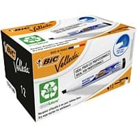 BIC 1751 Whiteboard Marker Medium Chisel Black Pack of 12