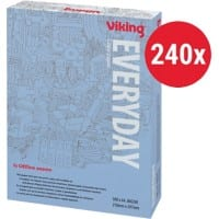 Viking Everyday Copy Paper A4 80gsm White 240 Packs of 500 Sheets