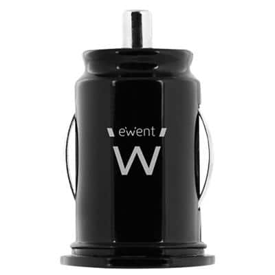 ewent USB Mini Car Charger EW1220 Black 1  of  Pieces