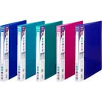 Snopake Stationery Ring Binder 10126 15 mm Smooth Polypropylene 2 ring A4 Electra Assorted 10 Pieces