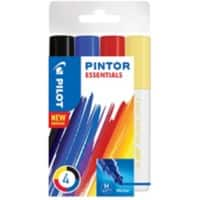 Pilot Pintor Paint Marker Medium Assorted 4 Pieces