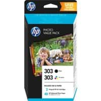 HP 303 Original Ink Cartridge Z4B62EE Black, Cyan, Magenta, Yellow Pack of 2