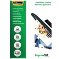 Fellowes Laminating Pouches Glossy 2 x 100 (200 Micron) A4 Pack of 100