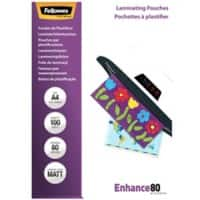 Fellowes Laminating Pouches Matt 2 x 80 (160 Micron) A4 Pack of 100
