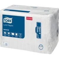 Tork Lunch Napkins 32.5 x 32.5cm White 500 Sheets Pack of 8