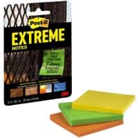 Post-it Extreme Sticky Notes 76 x 76 mm Assorted Colours 3 Pads of 45 sheets