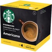 NESCAFÉ Dolce Gusto Starbucks Coffee Americano Veranda 12 Pieces of 8.5 g