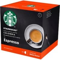 NESCAFÉ Dolce Gusto Starbucks Colombia Medium Roast Espresso Coffee Capsules 12 Pieces