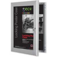 Stewart Superior Wall Mountable Lockable Poster Case 93 x 128 cm Silver