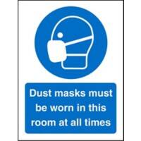 Mandatory Sign Dust Masks Plastic 20 x 15 cm