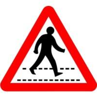 Road Sign Pedestrian Crossing Aluminium Composite 45 x 45 cm