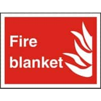 Fire Sign Fire Blanket Plastic 20 x 30 cm